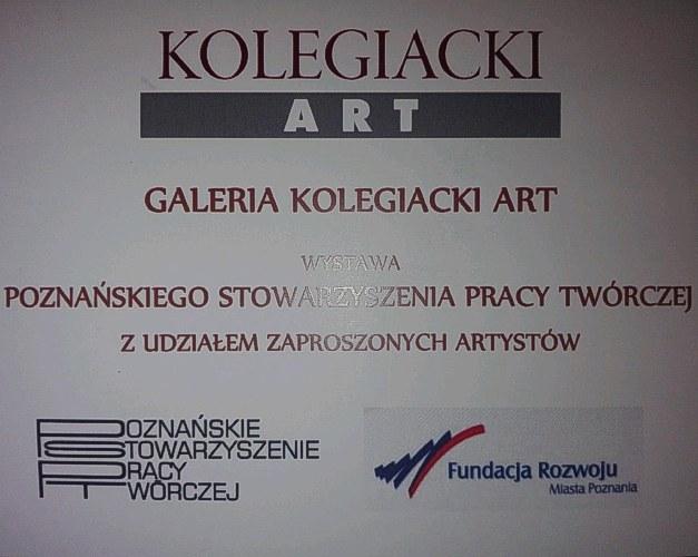 Zaproszenie na wystawę 9.9. g 17.