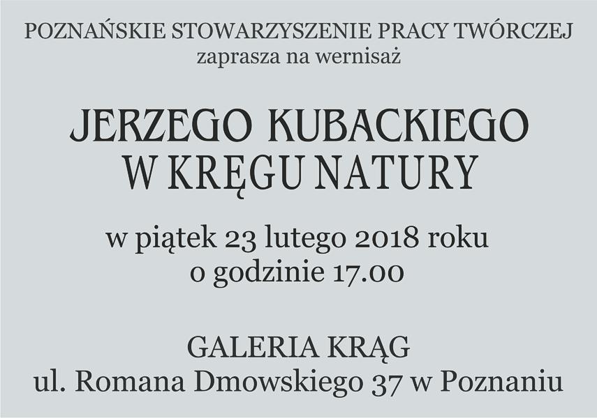 Jerzy Kubacki 2018 r